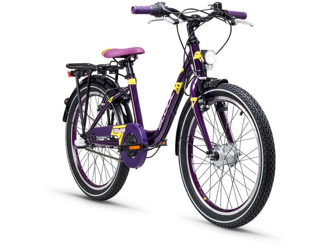 s'cool Emoji wave 20 3-S Børnecykel violet (2019) | City